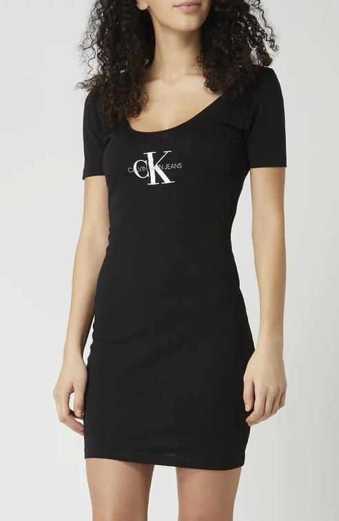 Calvin Klein Kleid aus Organic Cotton in schwarz für 22,49€ inkl. Versand (statt 39€)
