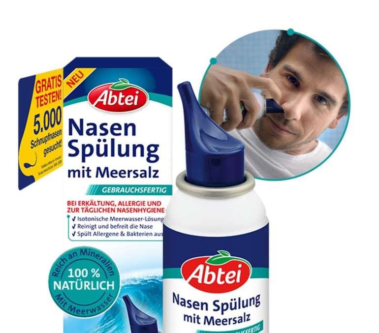Abtei Nasenspülung mit Meersalz gratis testen!