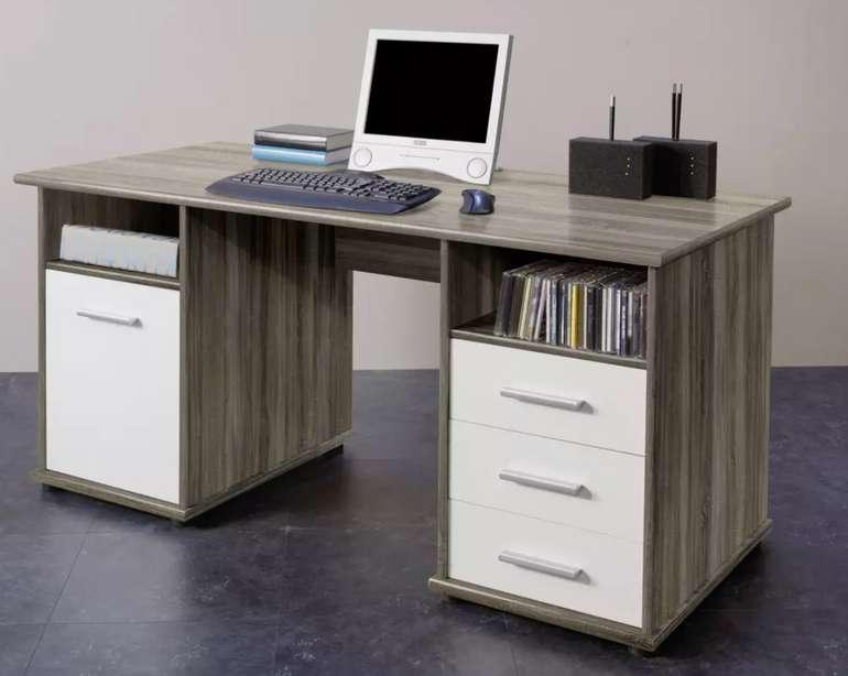 """Livetastic Schreibtisch """"Penta"""" in Eichefarben für 113,25€ inkl. Versand (statt 149€)"""