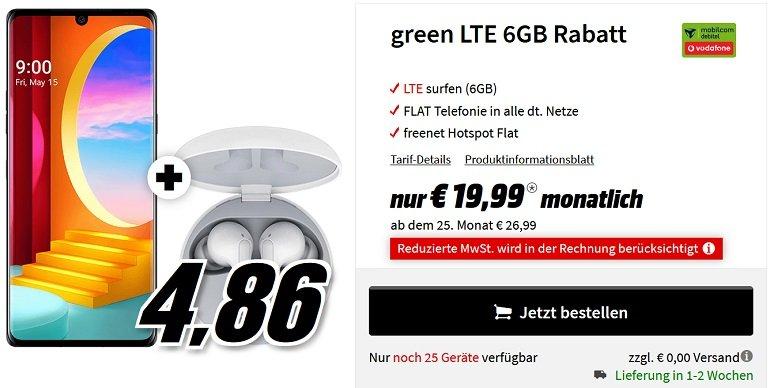 LG Velvet 4G Dual-SIM MD Vodafone Allnet-Flat 6GB LTE
