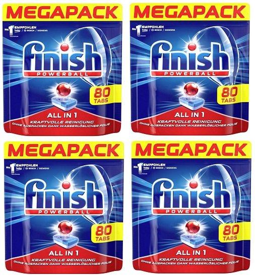 320er Pack Finish All in 1 Spülmaschinentabs (4 x 80 Stk) für 31,56€ (statt 39€) - Sofortüberweisung