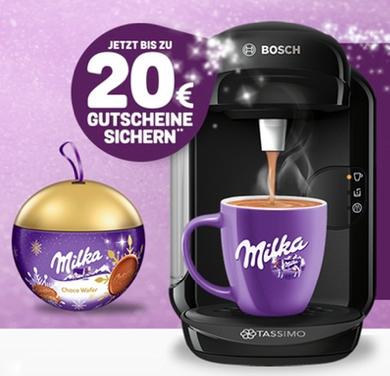 Tassimo Vivy 2 + Milka Weihnachtskugel + 20€ Gutschein für 26,99€ inkl. Versand
