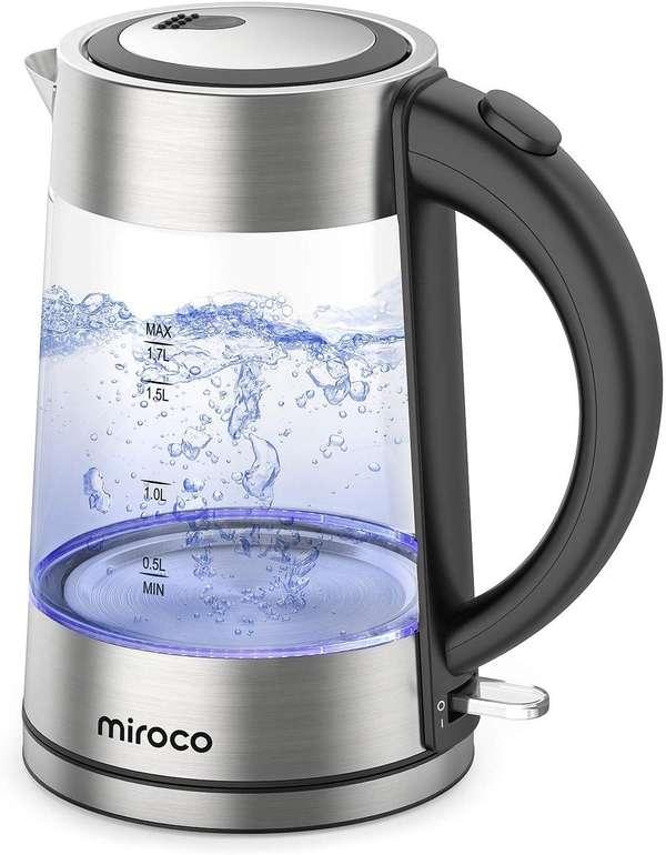 Miroco Glas Wasserkocher mit LED-Beleuchtung für 17,59€ inkl. Prime VSK (statt 33€)