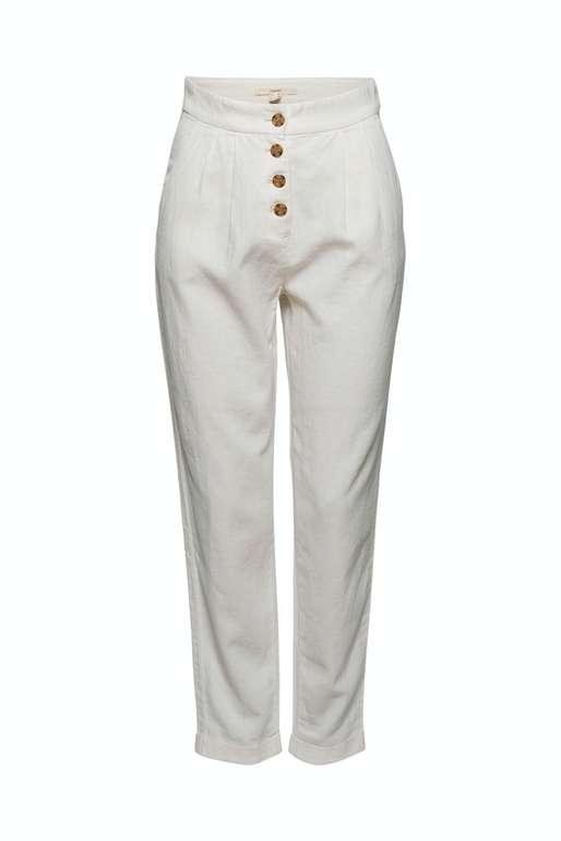 Esprit Hose Chino mit Knopfleiste in weiß für 44,99€ inkl. Versand (statt 50€)