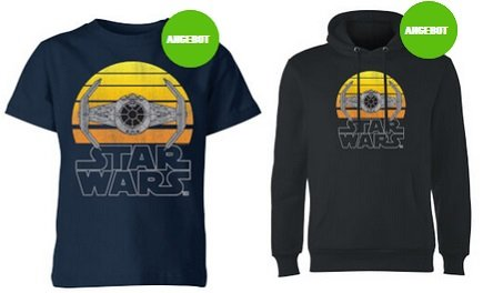 Star Wars Tie Kinder, Damen & Herren T-Shirt je nur 10,99€ oder Hoodie 27,99€