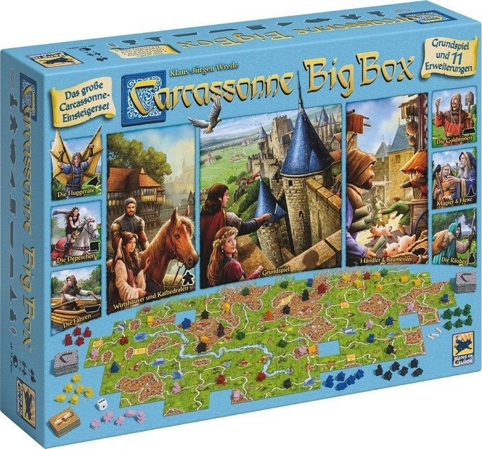 Asmodee Carcassonne - Big Box (48279) für 32,99€ inkl. VSK (statt 42€)