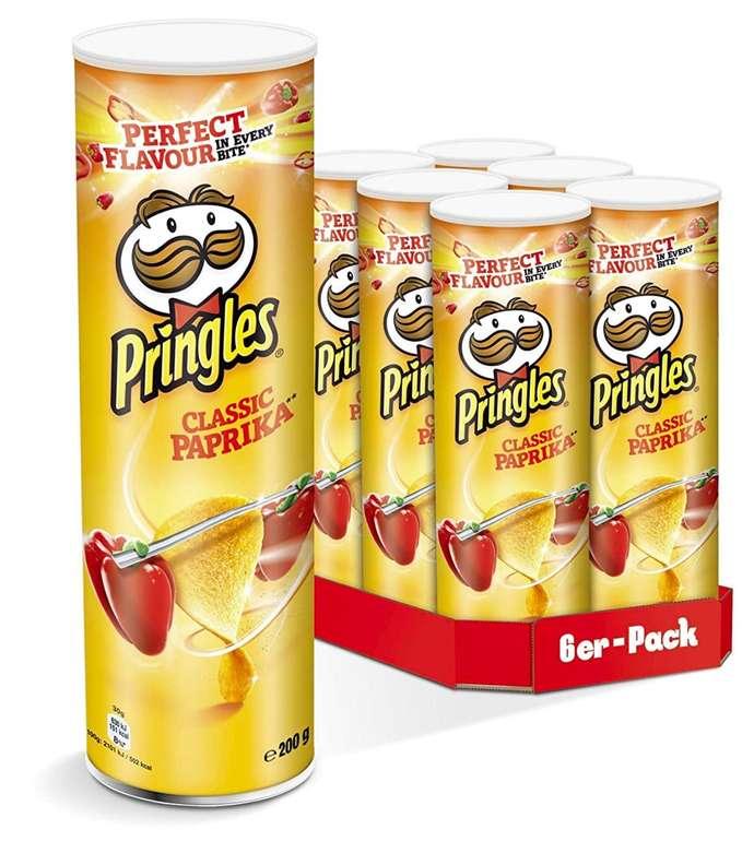 Pringles Chips verschiedene Sorten - 6er Party-Pack (6 x 200g) für 6,43€; pro Dose 1,07€ (Spar-Abo 0,93€)
