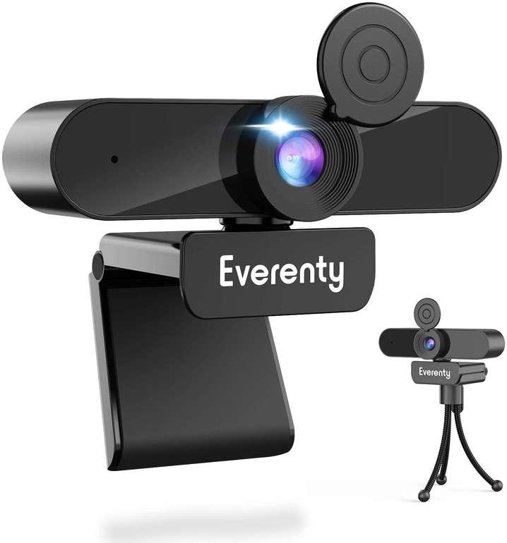 Everenty 2K Webcam mit Abdeckung & Mikrofon für 7,82€ inkl. Prime Versand (statt 23€)