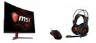 MSI Optix AG32C Curved Gaming Monitor + MSI 956-B907-102 Gaming Pack für 388€