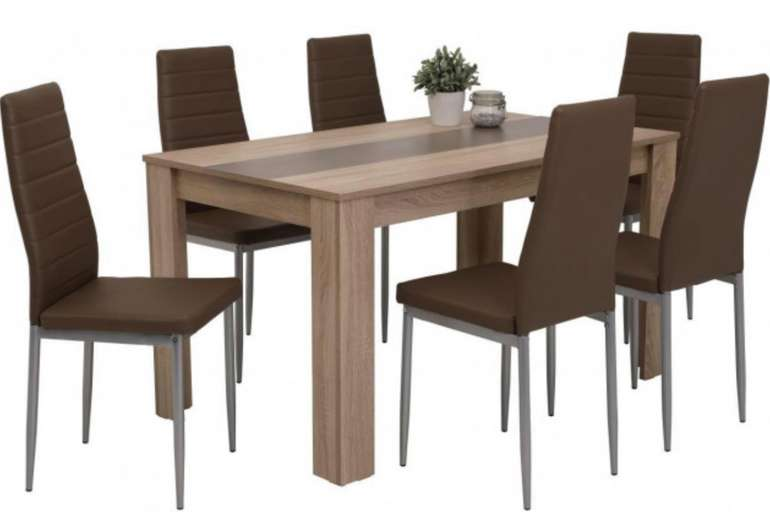 Poco Tischgruppe Mareike (vers. Designs, 7-tlg.) zu je 125,50€ inkl. Versand (statt 207€)