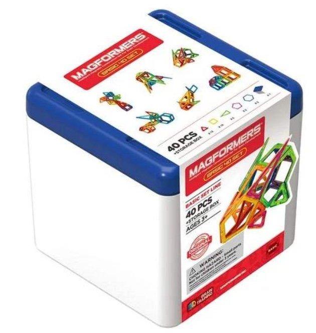 Magformers Box 40 Set - Kompaktes Basicset mit praktischer Aufbewahrungsbox für 44,94€ (statt 53€)