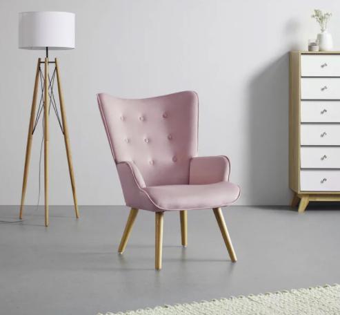 """Bessagi Home Sessel """"Celina"""" in rosa für 75,25€inkl. Versand (statt 106€)"""