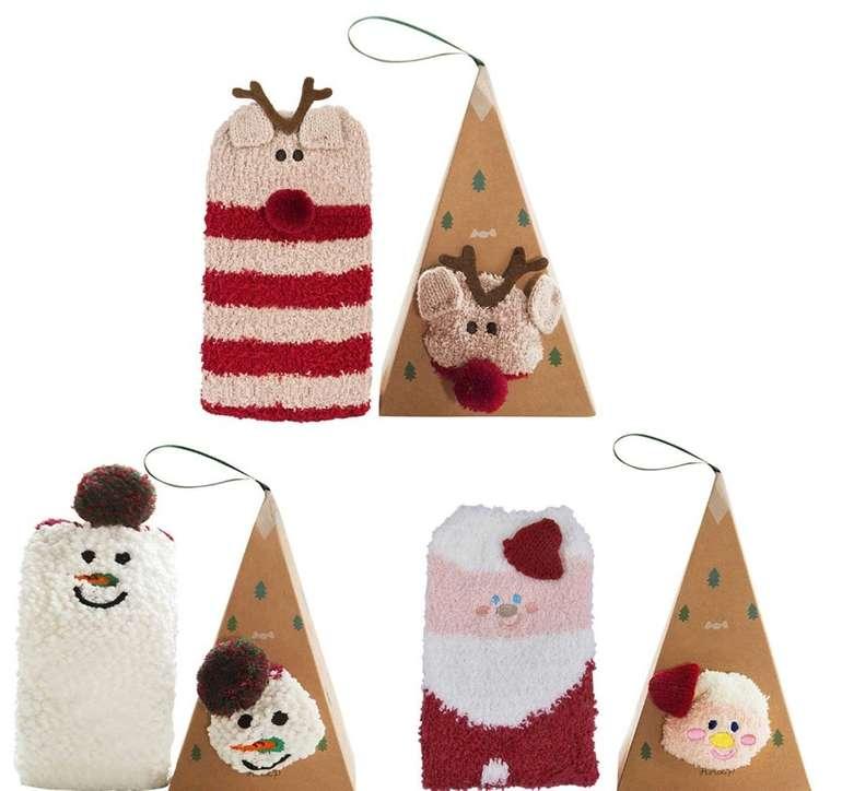 3er Pack Bageek Weihnachtssocken für 5,60€ inkl. Prime Versand (statt 14€)