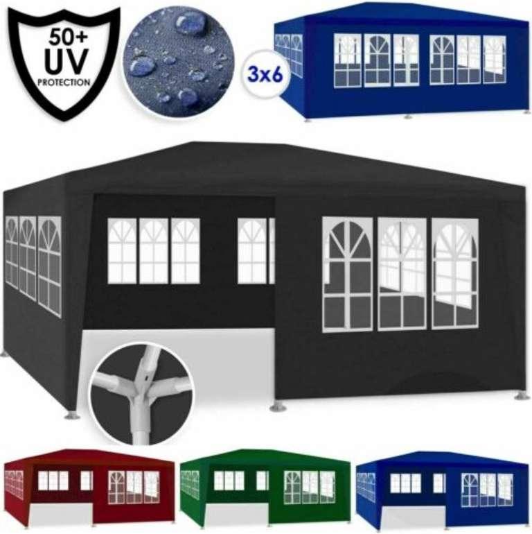 Kesser Pavillon - 3x6m Partyzelt mit Seitenwänden (versch. Farben) für je 57,80€ inkl. Versand (statt 65€)