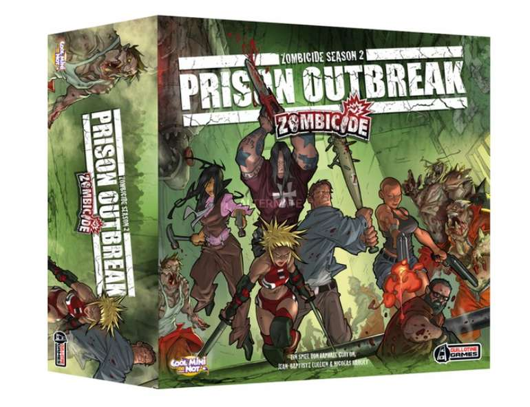 Asmodee Zombicide Season 2 - Prison Outbreak Brettspiel für 29,99€ inkl. Versand (statt 50€)