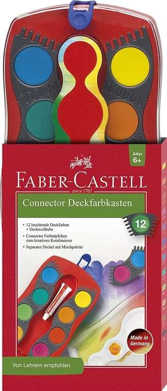 Faber-Castell 125030 - Farbkasten Connector mit 12 Farben, inklusive Deckweiß für 5,99€ bei Filialabholung