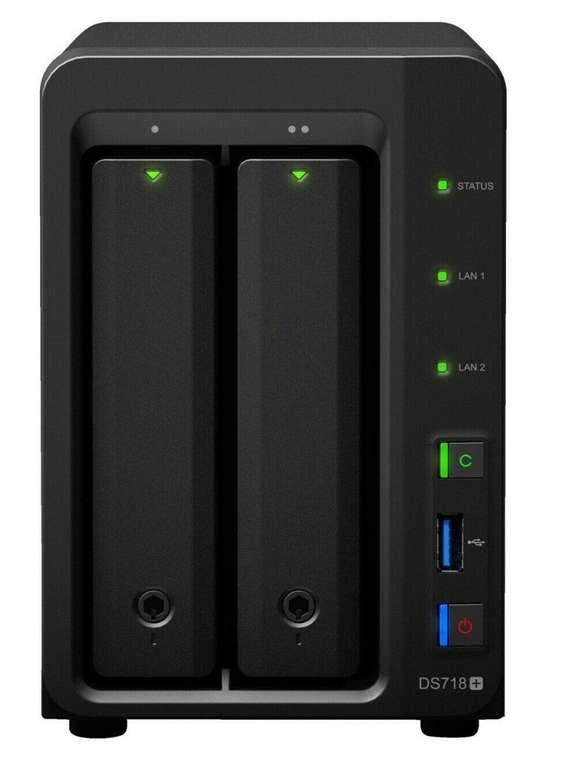 Synology DiskStation DS718+, 3.5 Zoll, NAS Leergehäuse für 348,55€ (statt 415€)