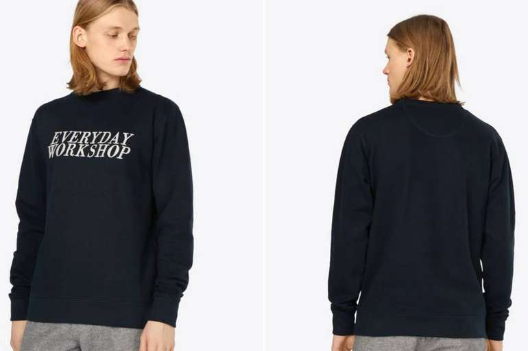 """Wemoto Herren Sweatshirt """"WRKSHP"""" Navy für 18,81€ inkl. Versand"""
