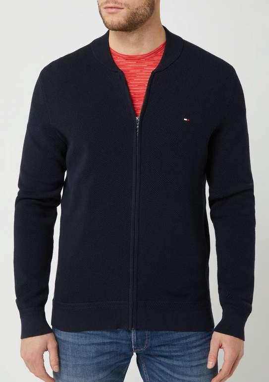 Tommy Hilfiger Strickjacke aus Baumwolle in Blau für 63,99€inkl. Versand (statt 115€)