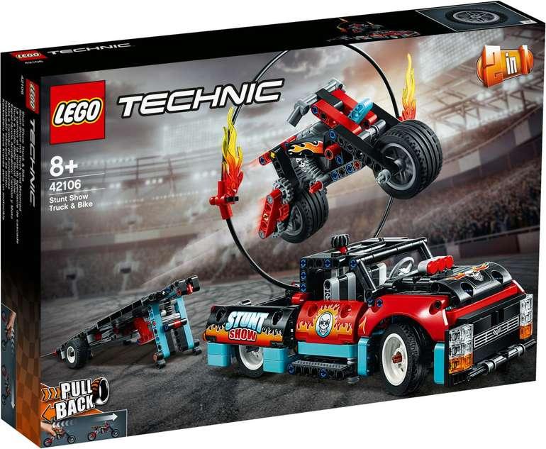 Lego Technic 42106 - Stunt-Show mit Truck und Motorrad für 30,72€ (statt 39€)