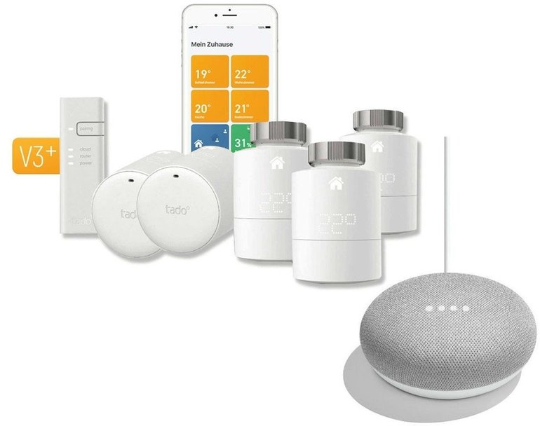 Smart Home Deals - z.B. Tado Smart Home Starter Kit V3+ mit Home Mini 299,94€