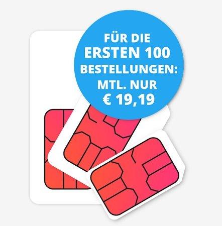 12GB LTE Telekom Allnet-/SMS Flat (Sparhandy HIGH!) für 19,19€ mtl.