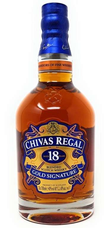 1 Flasche Chivas Regal 18 Jahre Gold Signature Blended Scotch Whisky (40 % Vol., 700ml) für 39,99€