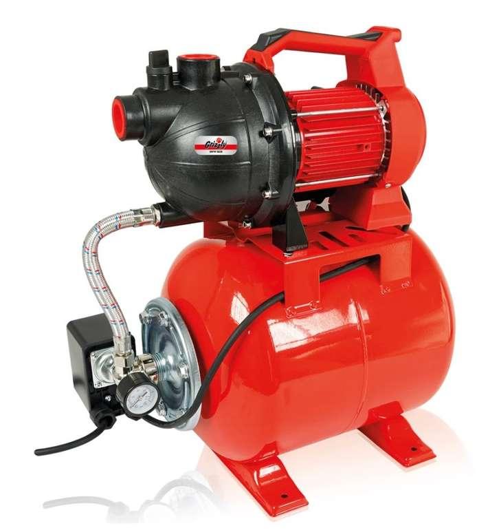 Grizzly Tools HWW 3038 Hauswasserwerk (max. 3,8 bar, 3000 l/h Förderleistung) für 81€ (statt 100€)