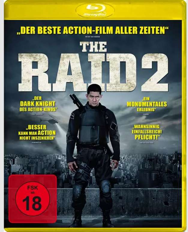 The Raid 2 (Blu-ray) für 4,79€ bei Abholung (statt 10€)
