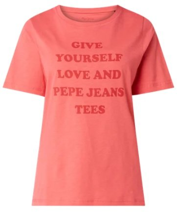 "Pepe Jeans T-Shirt mit Message-Print ""Freja"" für 8,99€ inkl. Versand (statt 23€) - 3 Farben"
