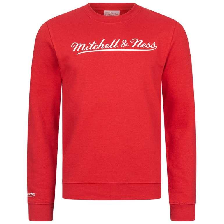 Mitchell & Ness Script Crew Herren Sweatshirt in rot für je 17,08€ inkl. Versand (statt 23€)