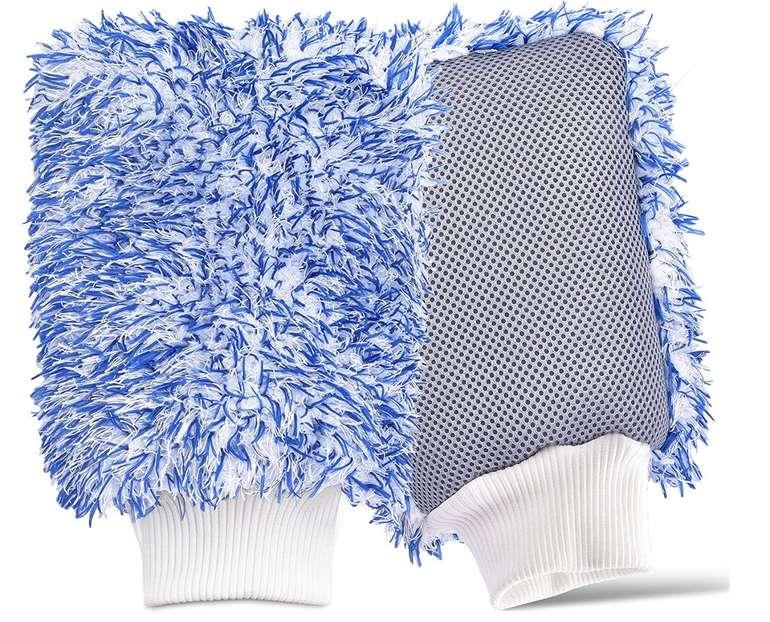 Pankaji 2xPremium Autowaschhandschuh aus ultraweicher Mikrofaser für 10,19€ inkl. Prime Versand (statt 17€)