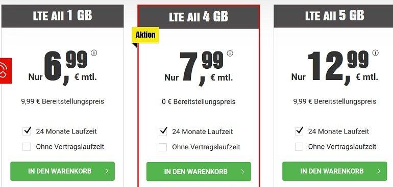 BILDconnect o2 Allnet-Flat mit 4GB LTE inkl. BILDplus 2