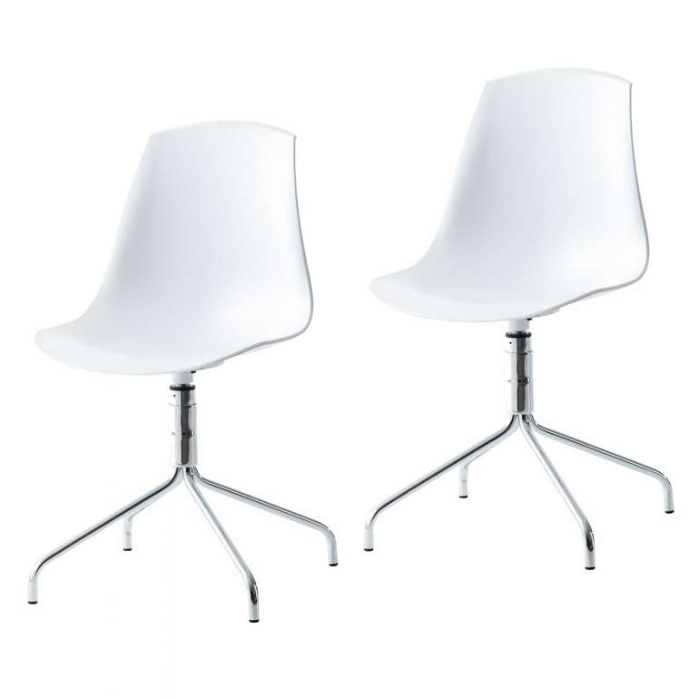 2er-Set Schalenstühle Vildsund (weiß) für 32,99€ inkl. VSK (statt 49,99€)