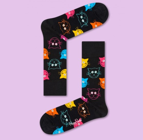 Happy Socks: 25% Rabatt auf nicht reduzierte Artikel + VSKfrei z.B. Cat Sock 7€