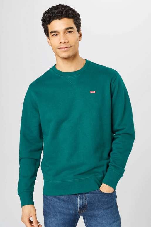 Levi's Sweatshirt in dunkelgrün mit Logo-Print für 28,95€inkl. Versand (statt 48€)