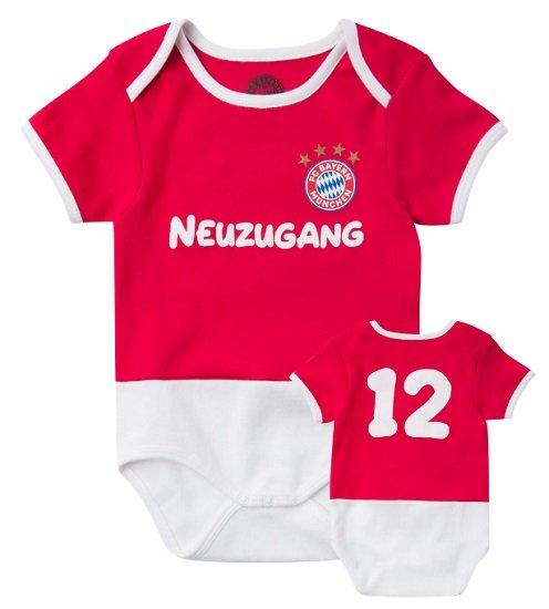 FC Bayern Fanshop Sale mit bis zu 60% Rabatt + 25% Extra - z.B. Baby Body Neuzugang für 12,41€ (statt 20€)