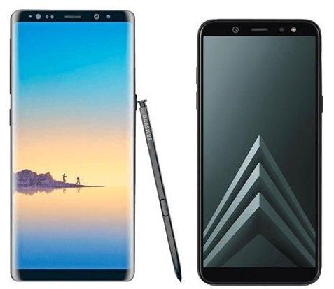 Samsung Galaxy Note 8 Smartphone + Galaxy A6 für nur 499€ (statt 610€)