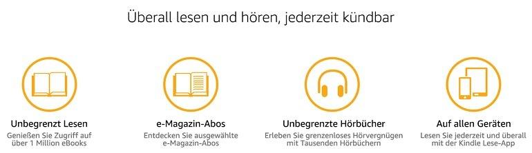Kindle Unlimited 2 Monate bei Amazon kostenlos testen 2