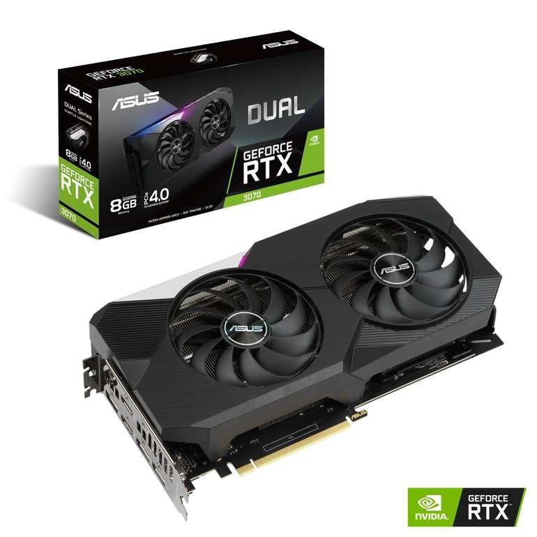 """Asus GeForce RTX3070 """"DUAL-RTX3070-8G"""" (8GB) Enthusiast Grafikkarte für 604,80€ inkl. Versand (statt 640€)"""