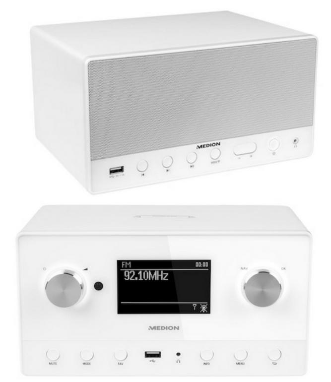Bundle: Medion P85066 Internetradio + Medion P61071 Lautsprecher für 129,95€