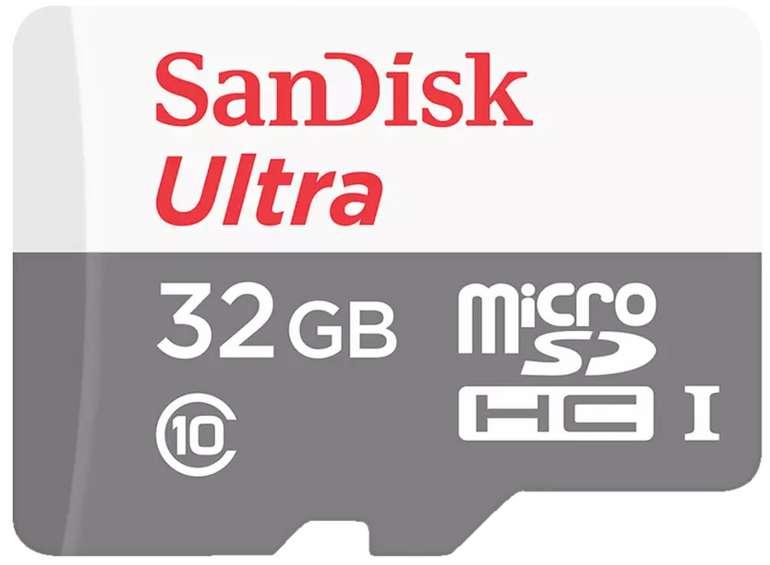 SanDisk Ultra® Micro-SDHC Speicherkarte mit 32 GB (80 MB/s) für 4,99€inkl. Versand (statt 6€)