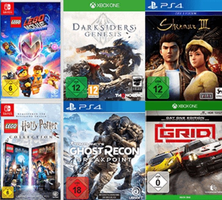Saturn: 3 Games (Nintendo Switch, PS4, Xbox One, PC) für 79€