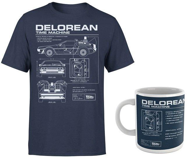 """T-Shirt """"Zurück In Die Zukunft - Delorean"""" + Tasse für 11,48€ inkl. Versand (statt 20€)"""