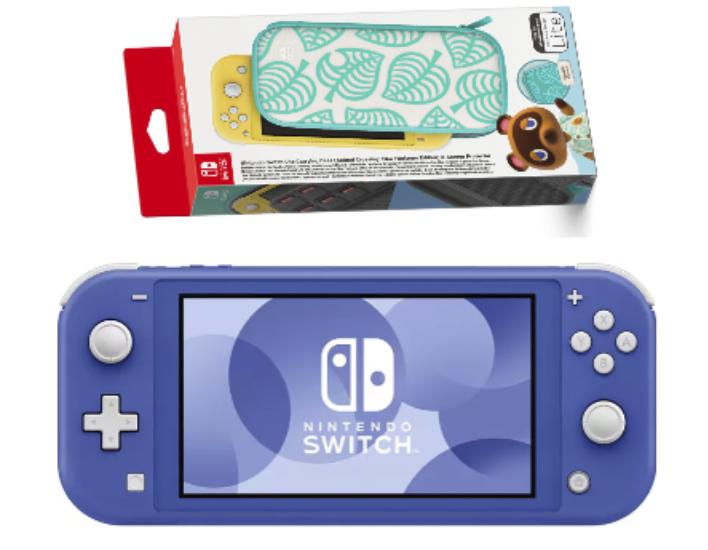 Nintendo Switch Lite Blau + Nintendo Switch Lite-Tasche(AC, Horizons) für 199,99€ inkl. Versand (statt 226€)