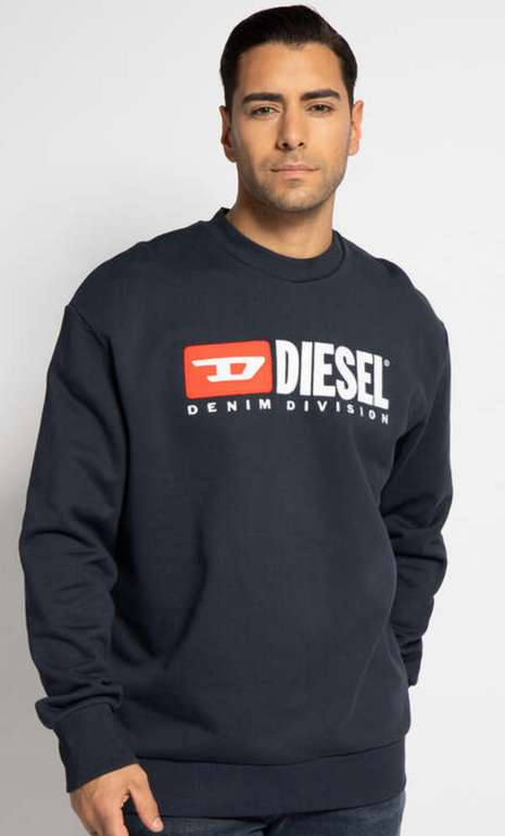 Diesel Herren Sweatshirt Crew-Division für 53,95€ inkl. Versand (statt 98€)