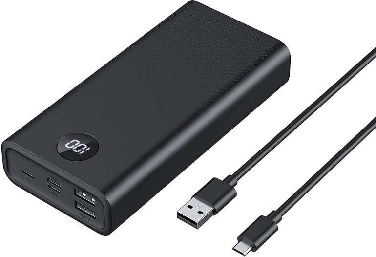FEWF Powerbank mit 20000mAh (USB C/Micro-USB/Lightning) für 10,99€ inkl. Versand (statt 22€)