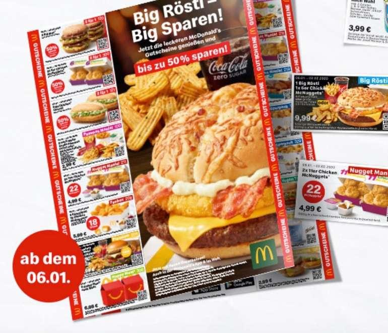 Neue McDonalds Coupons/Gutscheine zum Ausdrucken - Januar 2020