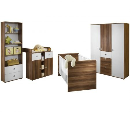 TiCAA Babyzimmer Milu II 4-tlg. (sonoma-weiß) für 479,44€ inkl. VSK (statt 530€)
