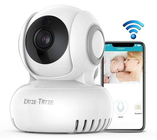 Katze-Tatze WLAN IP Überwachungskamera mit Nachtsicht & APP für 19,98€ (Prime)